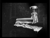 El Casco asztali tűzőgép, közepes, króm