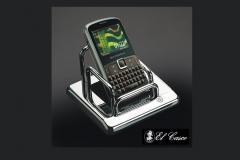 El Casco mobiltelefon tartó, asztali, króm