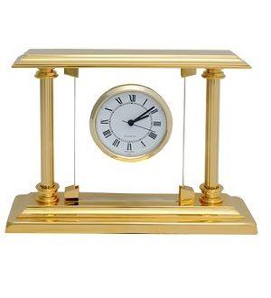El Casco asztali óra üveg lappal